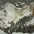 Lower Yellowstone Falls In Winter by NaturesPix