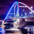 Lowry Bridge @ Night by Pezios Photography