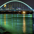 Lowry Bridge In St. Patrick's Day Green by Craig Voth