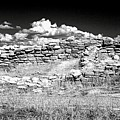 Lowry Pueblo Ruin Black And White by David Ross