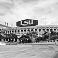 Lsu Tiger Stadium -bw by Scott Pellegrin