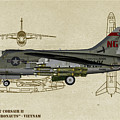 Ltv A-7 Corsair II - Profile Art by Tommy Anderson