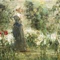 Luca Postiglione Napoli 1876 - 1936 The White Fleurs-de-lis by Luca Postiglione Napoli