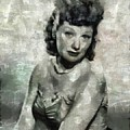 Lucille Ball Vintage Hollywood Actress by Mary Bassett
