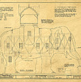 Lucy The Elephant Building Patent Blueprint  by Edward Fielding