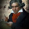 Ludwig Van Beethoven 1820 by Daniel Hagerman