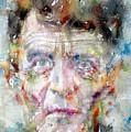 Ludwig Wittgenstein - Watercolor Portrait.2 by Fabrizio Cassetta