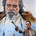 Luke And Rey by Joseph Christensen