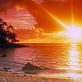 Lumahai Beach Sunset by Marie Hicks
