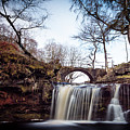 Lumb Falls Panoramic by Gary Turner
