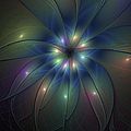 Luminous Fractal Art by Gabiw Art