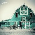 Luna Barn Teal by Mindy Sommers