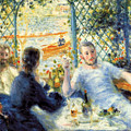 Lunch At The Restaurant Fournaise, The Rower's Lunch by Pierre-Auguste Renoir