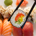 Lunch With  Sushi  by Anastasy Yarmolovich