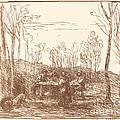 Luncheon In A Clearing (un Dejeuner Dans La Clairiere) by Jean-baptiste-camille Corot