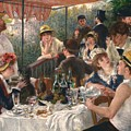 Luncheon Of The Boating Party By Renoir by Pierre Auguste Renoir