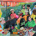 Pastel-luncheon Of The Cycling Party by Francois Lamothe