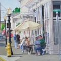 Lunchtime In Florence, Or by Ron Bendorff