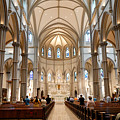 Lunchtime Mass At Saint Paul Cathedral Pittsburgh Pa by Amy Cicconi