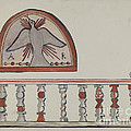 Lunette From Altar-church At Llano Quemado Altar Rail-church At Sanctuario, Chimayo by E. Boyd