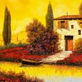 lungo il fiume tra i papaveri by Guido Borelli