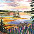 Lupine Sunrise by Ernestine Grindal