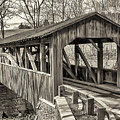 Luther Mills Bridge In Monochrome by Lou Cardinale