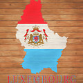 Luxembourg Rustic Map On Wood by Dan Sproul