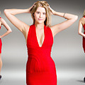 Luxury Female Fashion Model In Classy Red Dress by Jorgo Photography - Wall Art Gallery