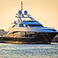 Luxury Yacht On Golen Sunset by Brch Photography