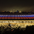 Luzhniki Stadium At Summer Night Against The Background Of The Ministry Of Foreign Affairs, The Cath by Oleg Ivanov