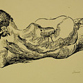 Lying Nude Woman by Vitali Komarov