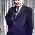 Lyndon B Johnson Portrait - Dwp180241007 by Dean Wittle
