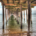 Lynnhaven Fishing Pier, Pillars To The Sea by Greg Hager