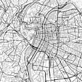 Lyon France Light Map by Jurq Studio