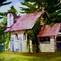 Lyons Falls Church by Sheila Mashaw