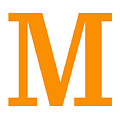 M In Tangerine Typewriter Style by Custom Home Fashions