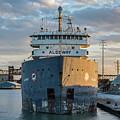 M/v Algoway At The Salt Dock by Christine Douglas