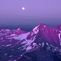 M05413 Moonrise Over Broken Top by Ed  Cooper Photography