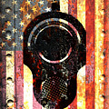 M1911 Colt 45 On Rusted American Flag by M L C