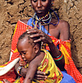 Maasai Grandmother And Child by Michele Burgess