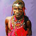 Maasai Moran by Anthony Mwangi