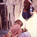 Maasai Woman And Child by Theo  Snell