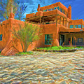 Mabel Dodge Luhan House As Oil by Charles Muhle