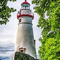 Mablehead Light From The Rocks by Nick Zelinsky