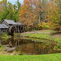 Mabry Mill In Fall 1 by Kevin Craft