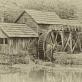 Mabry Mill In Sepia by Ola Allen