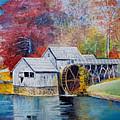 Mabry Mill On Blue Ridge Parkway In Va. Usa by Anne-Elizabeth Whiteway
