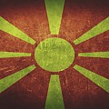 Macedonia Distressed Flag Dehner by T Shirts R Us -