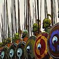 Macedonian Phalanx by Andrea Mazzocchetti